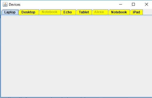 Отключение вкладки в контейнере JTabbedPane в Java