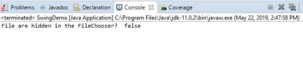 отобразили файл, установив скрытое значение FALSE
